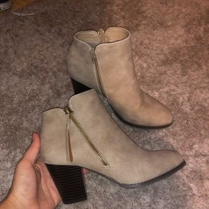 Suede booties from Tilly's